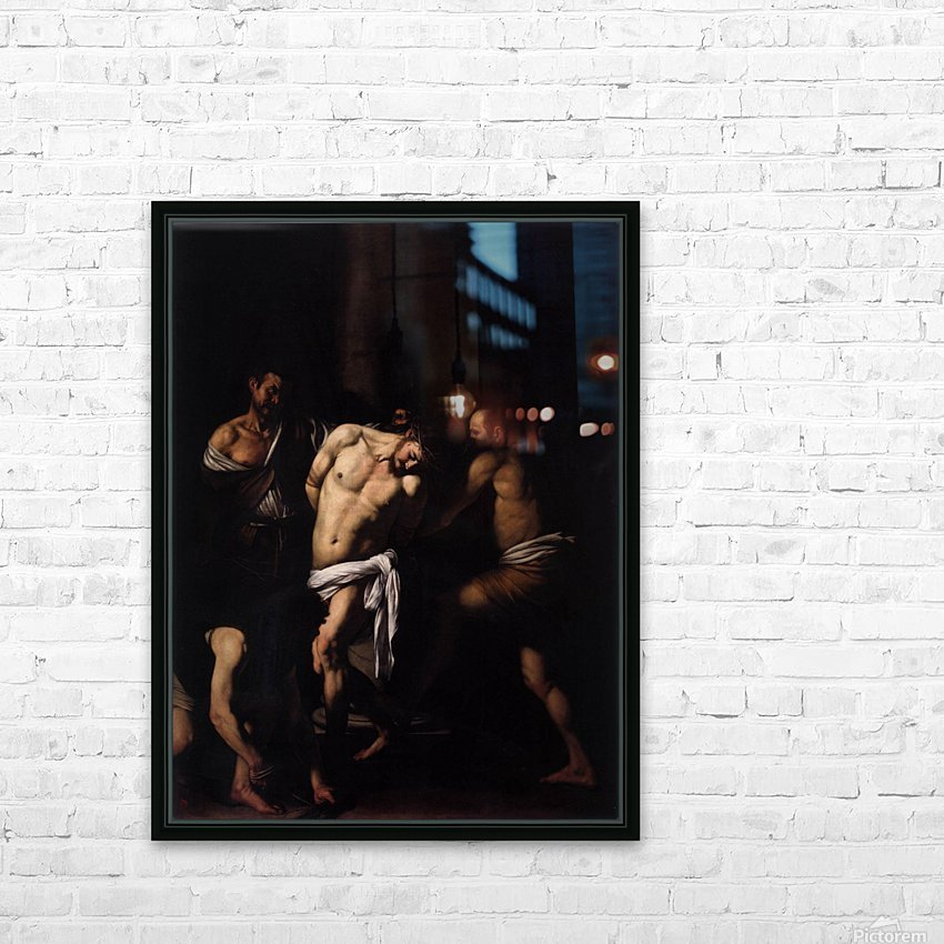 Flagellation of Christ HD Sublimation Metal print with Decorating Float Frame (BOX)