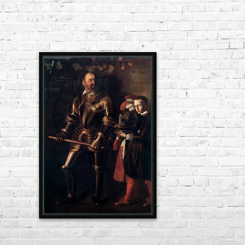 Knight of Malta HD Sublimation Metal print with Decorating Float Frame (BOX)