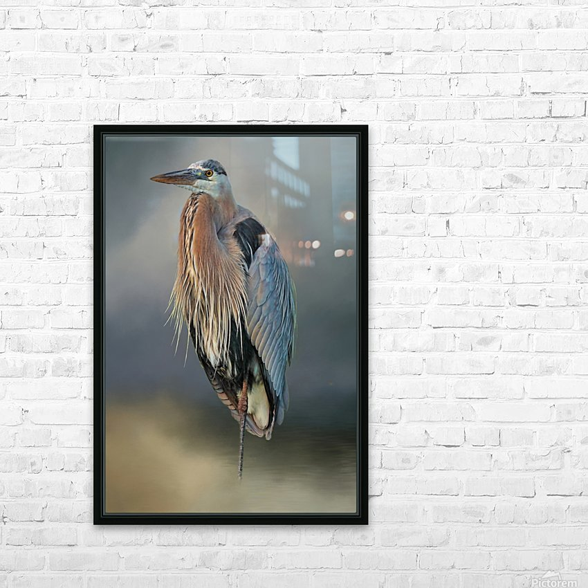 Great Blue Heron At Rest HD Sublimation Metal print with Decorating Float Frame (BOX)
