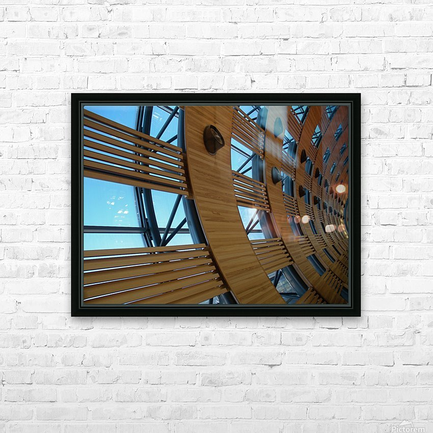 Paris Airport HD Sublimation Metal print with Decorating Float Frame (BOX)