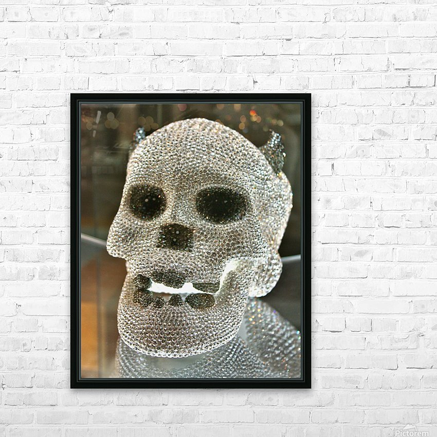 Paris Crystal Skull HD Sublimation Metal print with Decorating Float Frame (BOX)