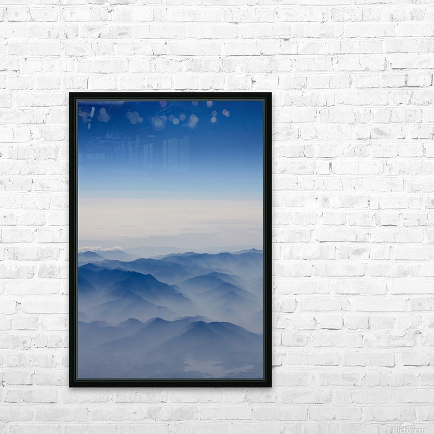 Japanese Mountains HD Sublimation Metal print with Decorating Float Frame (BOX)