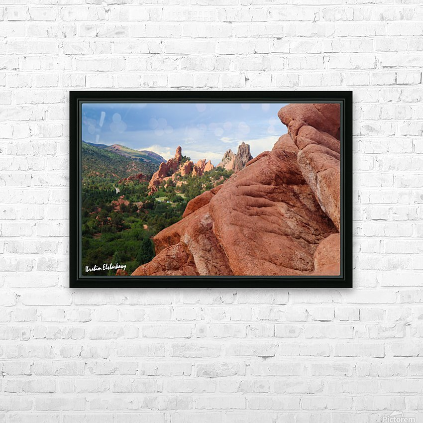 Beautiful Red Rock structures in the Desert HD Sublimation Metal print with Decorating Float Frame (BOX)