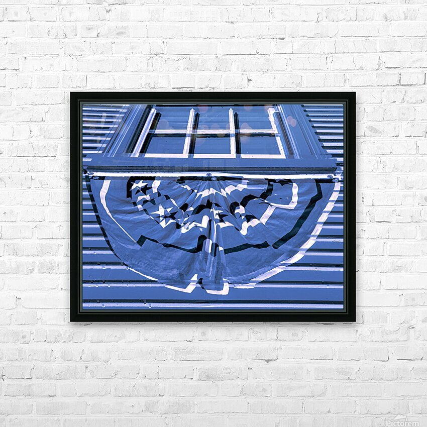 Colonial Bunting HD Sublimation Metal print with Decorating Float Frame (BOX)