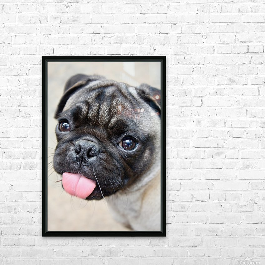 Pug Joker HD Sublimation Metal print with Decorating Float Frame (BOX)