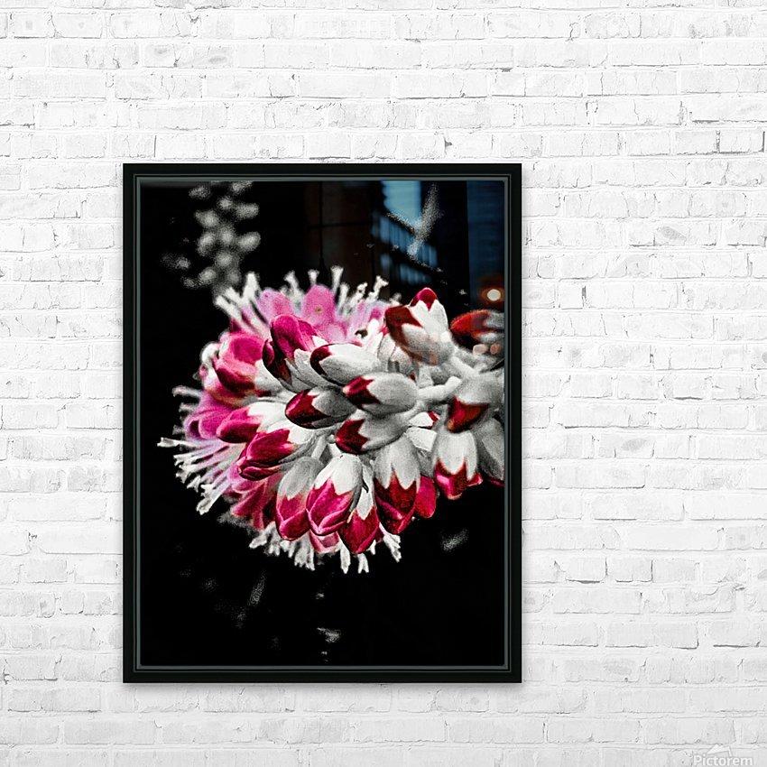Pink Tree  HD sublimation métal imprimé avec décoration flotteur cadre (boîte)