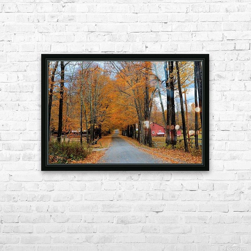 Autumn Three Maple Dr. Manchester VT HD Sublimation Metal print with Decorating Float Frame (BOX)