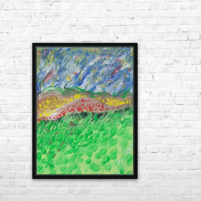 windy landscape HD Sublimation Metal print with Decorating Float Frame (BOX)