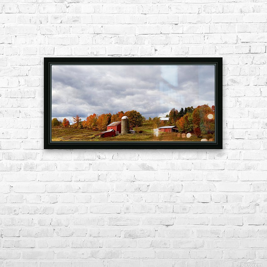 Farm Rigor Hill Rd. New York 796 HD Sublimation Metal print with Decorating Float Frame (BOX)
