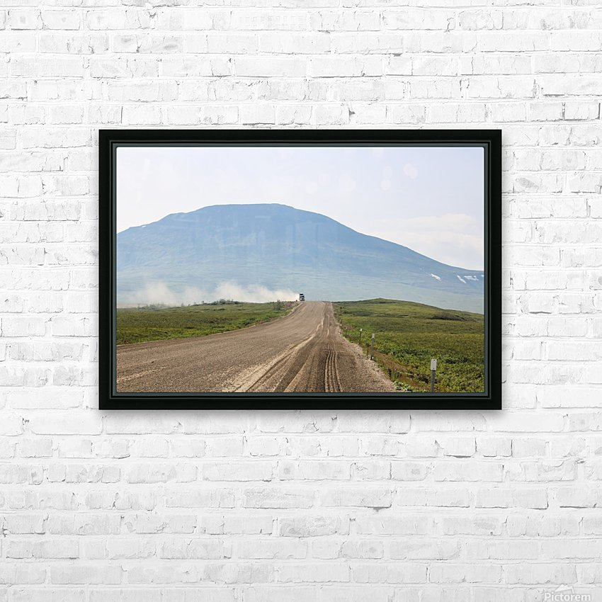Truck on the Dempster HD Sublimation Metal print with Decorating Float Frame (BOX)