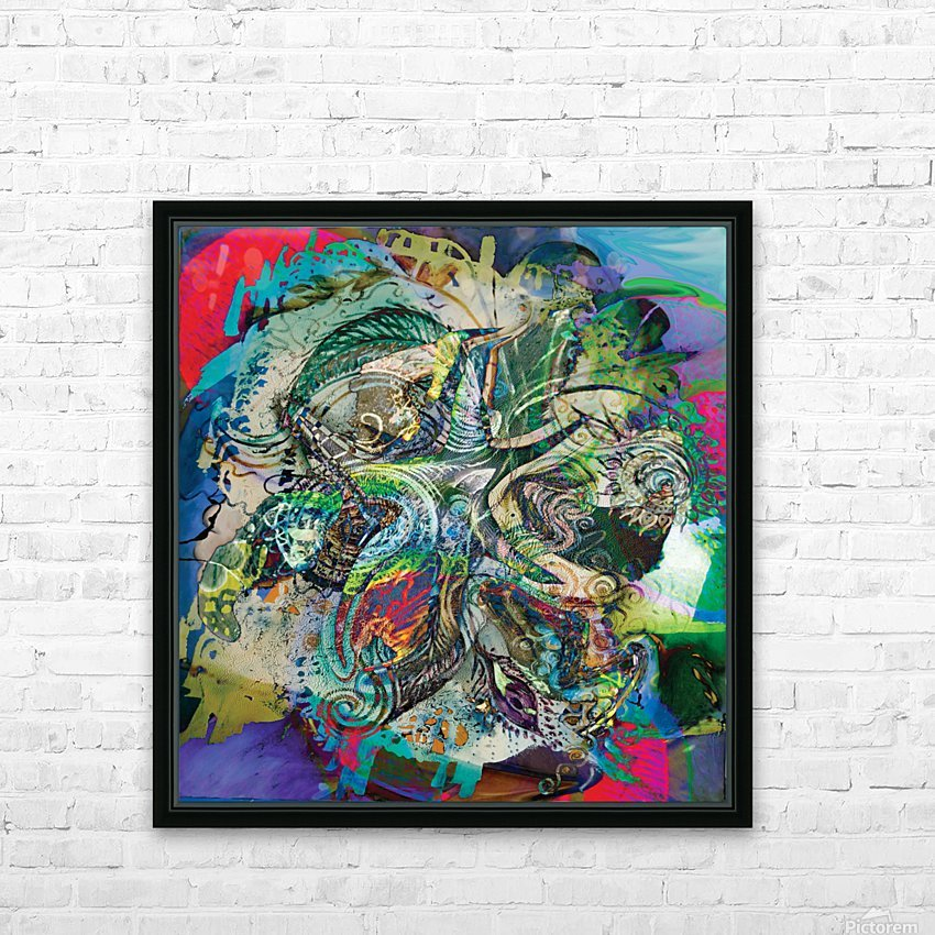 mottled multicolored abstract composition HD Sublimation Metal print with Decorating Float Frame (BOX)