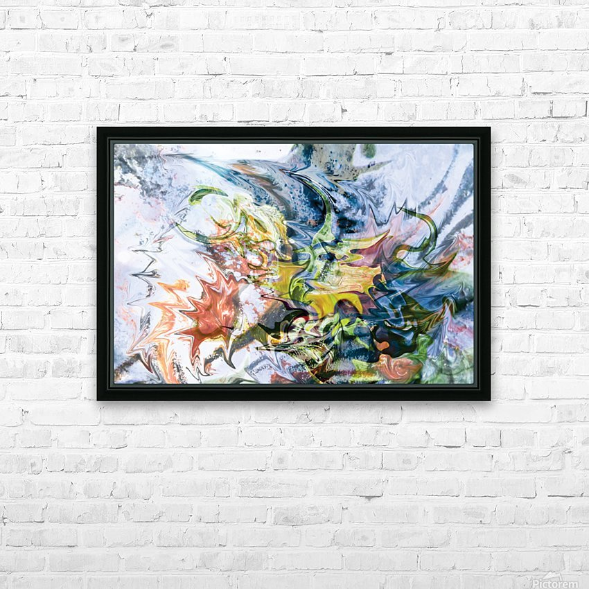 fluid objects art abstraction HD Sublimation Metal print with Decorating Float Frame (BOX)