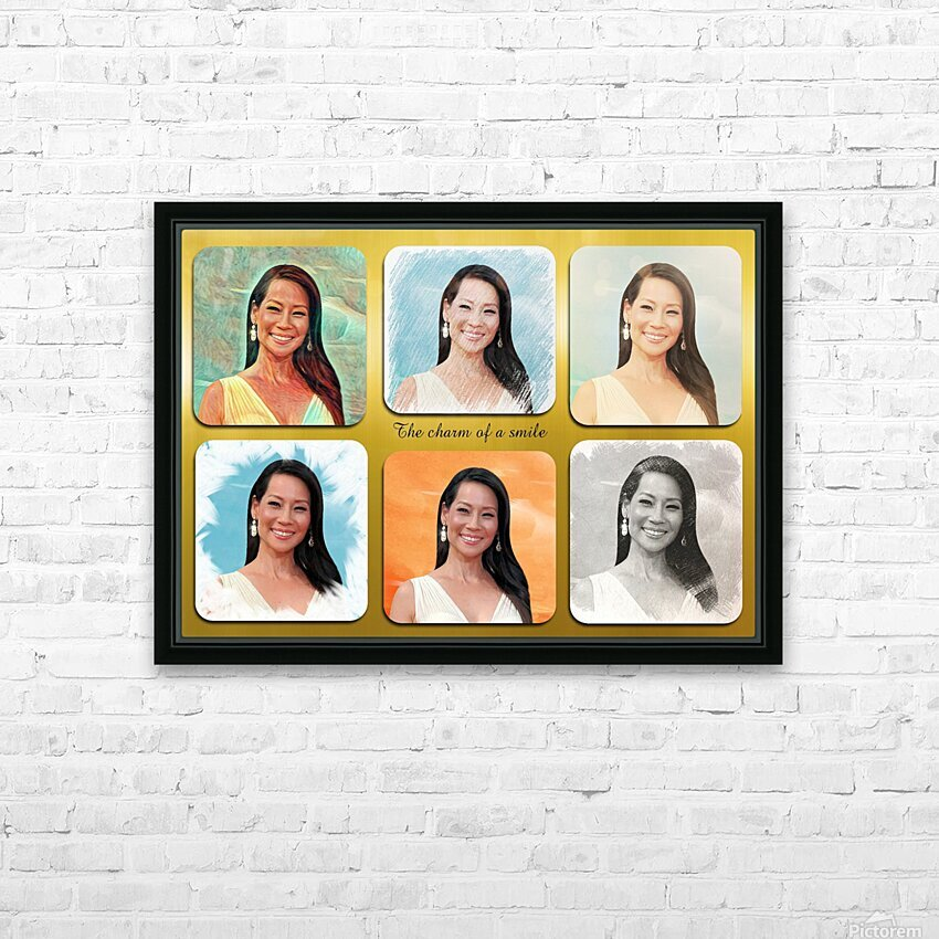 Lucy Liu pop star celebrity  HD Sublimation Metal print with Decorating Float Frame (BOX)