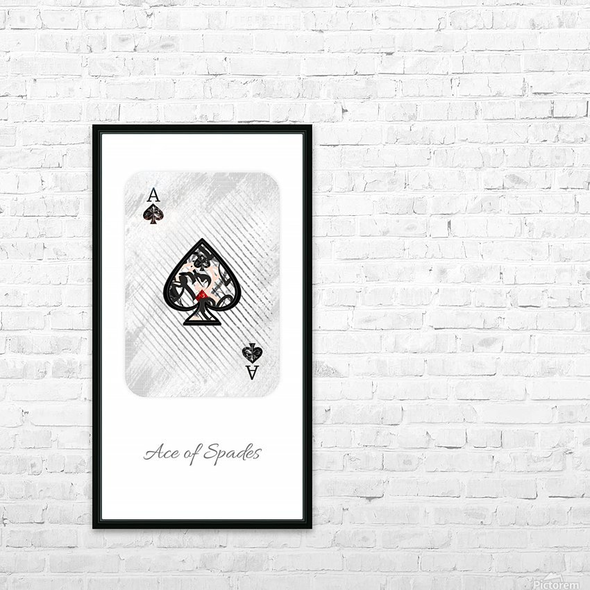 playing cards ace of spades HD Sublimation Metal print with Decorating Float Frame (BOX)