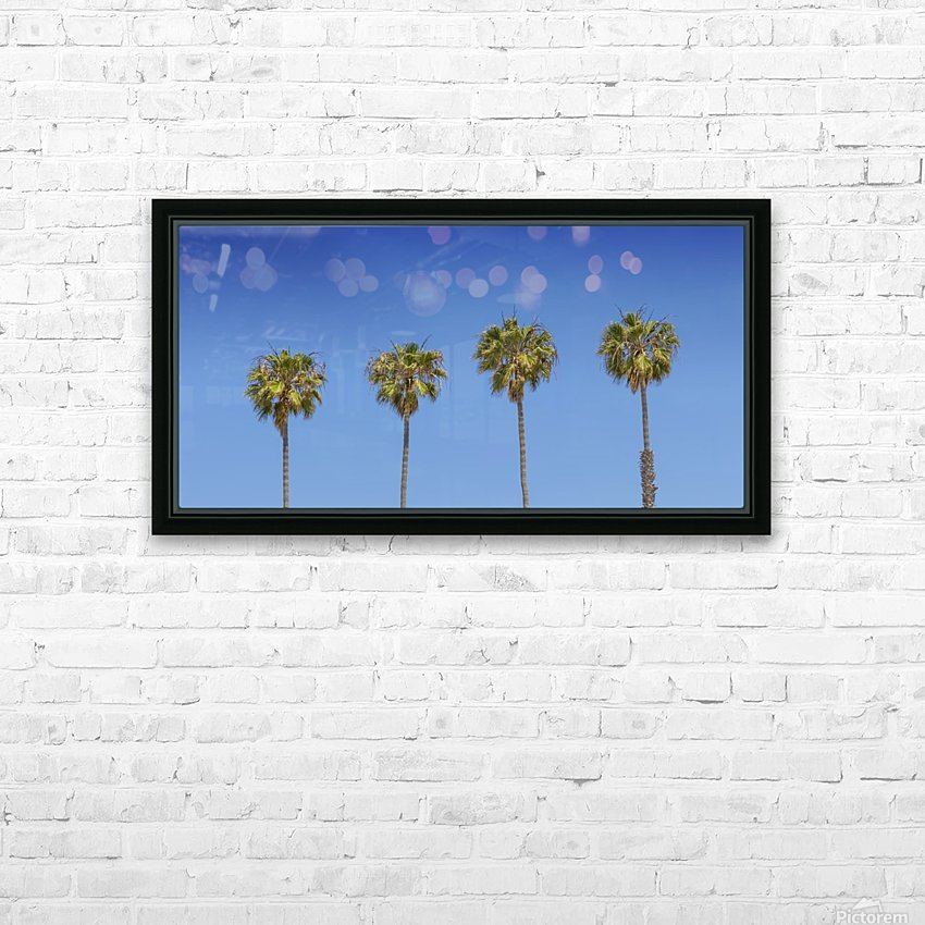 Lovely Palm Trees   Panorama HD Sublimation Metal print with Decorating Float Frame (BOX)
