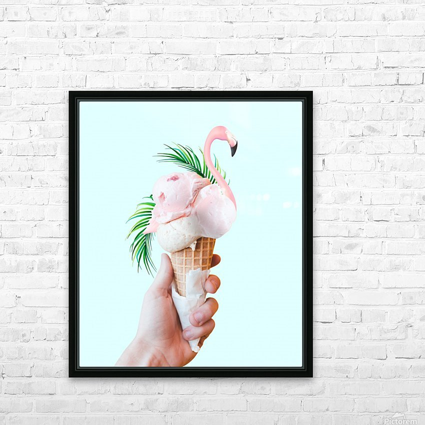 Tropical Ice Cream HD Sublimation Metal print with Decorating Float Frame (BOX)