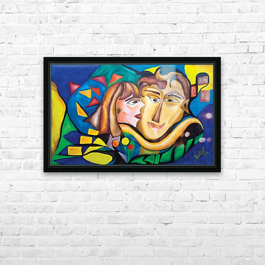 kissing woman HD Sublimation Metal print with Decorating Float Frame (BOX)