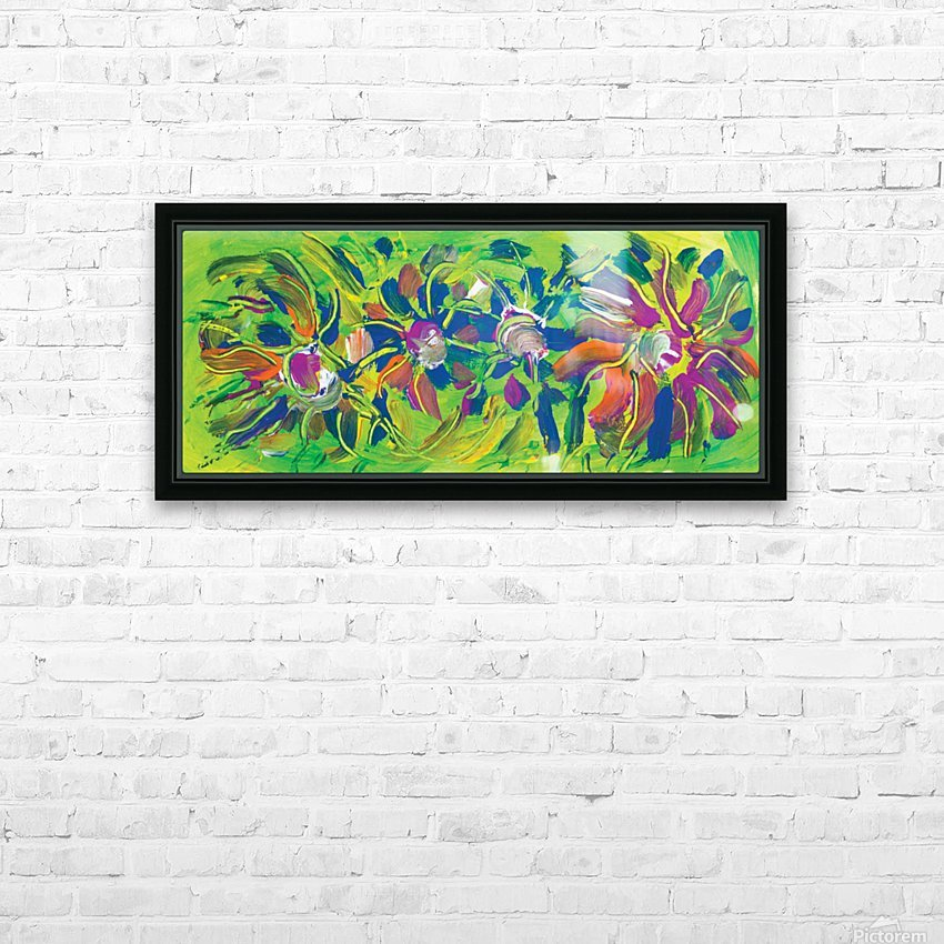 abstract multicolored flowers HD Sublimation Metal print with Decorating Float Frame (BOX)