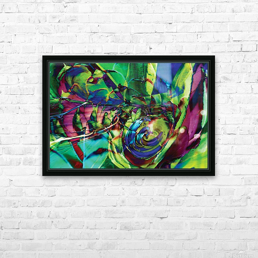 swirling abstract shapes  HD Sublimation Metal print with Decorating Float Frame (BOX)