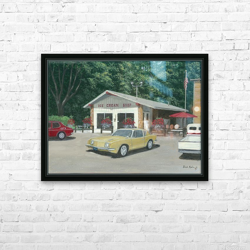 The Ice Cream Shop - Newtown Scenes  12 x 16  HD Sublimation Metal print with Decorating Float Frame (BOX)