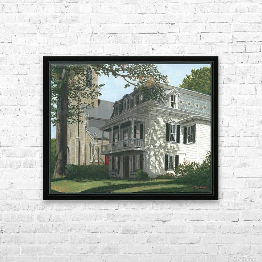 Balcony House Shadows - Newtown Scenes 16X20  HD Sublimation Metal print with Decorating Float Frame (BOX)