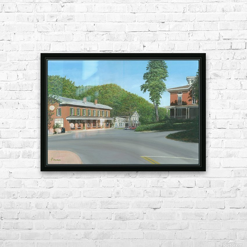 The Brick Store - Newtown Scenes 18 X 26  HD Sublimation Metal print with Decorating Float Frame (BOX)