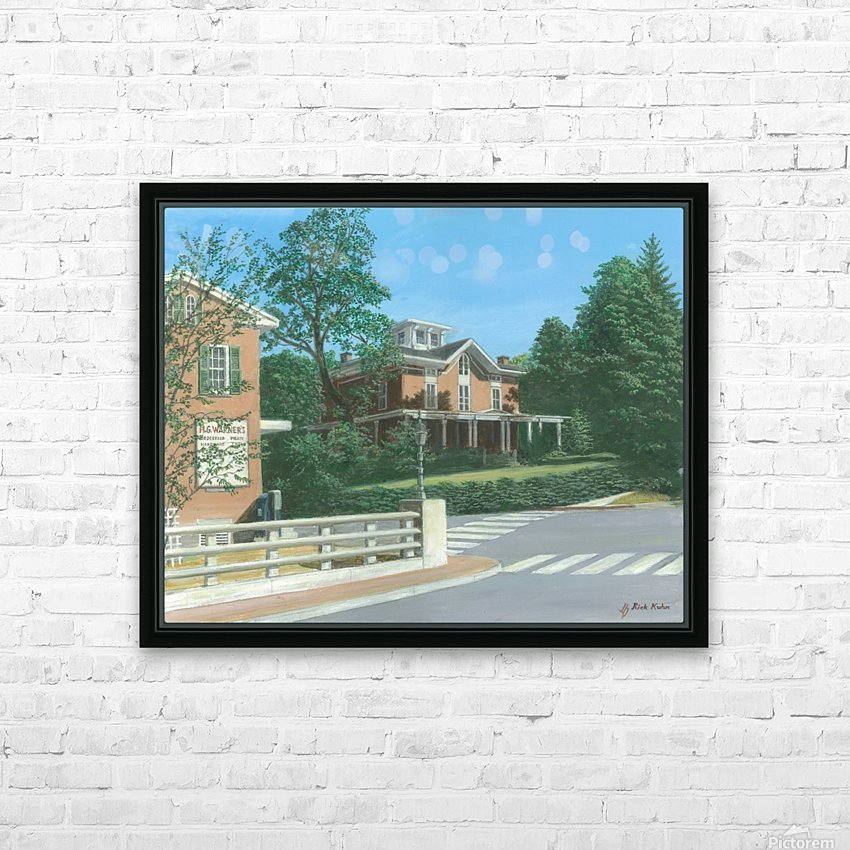 Brick House Sandy Hook - Newtown Scenes 16X20 HD Sublimation Metal print with Decorating Float Frame (BOX)