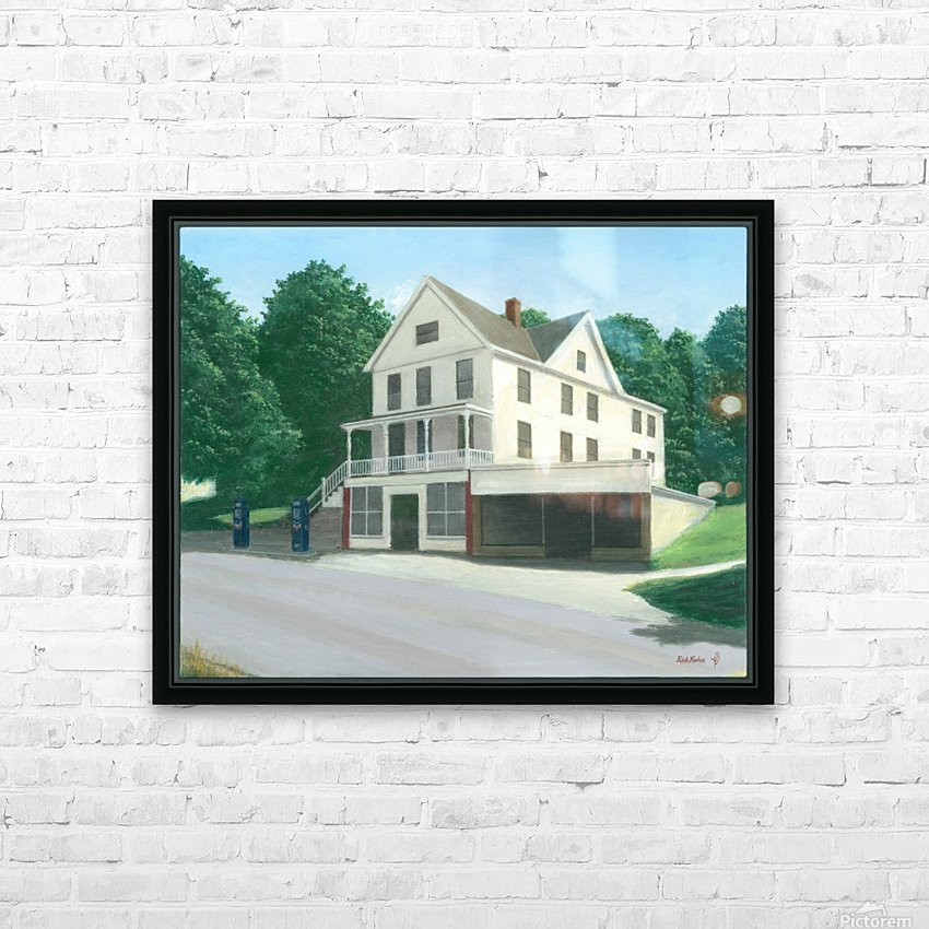 Botsford Store - Newtown Scenes  16X20 HD Sublimation Metal print with Decorating Float Frame (BOX)