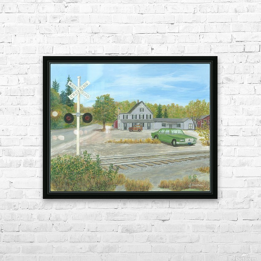 Hawleyville Scene - Newtown Scenes 16X20 HD Sublimation Metal print with Decorating Float Frame (BOX)