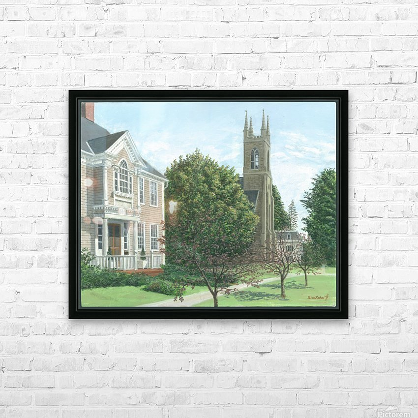 Main Street At Church Hill Road - Newtown Scenes 16X20 HD Sublimation Metal print with Decorating Float Frame (BOX)