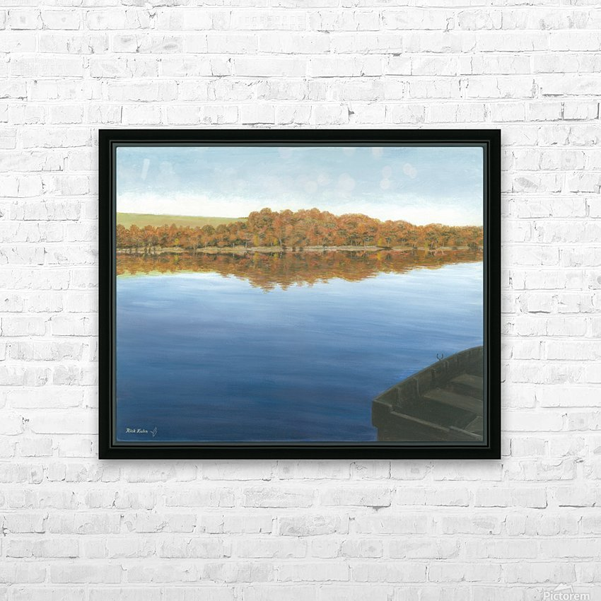 Rowboat on Taunton Lake - Newtown Scenes 16X20 HD Sublimation Metal print with Decorating Float Frame (BOX)