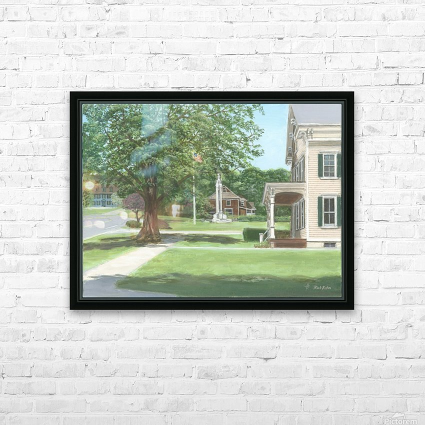 Main Street Monument - Newtown Scenes 16X16 HD Sublimation Metal print with Decorating Float Frame (BOX)