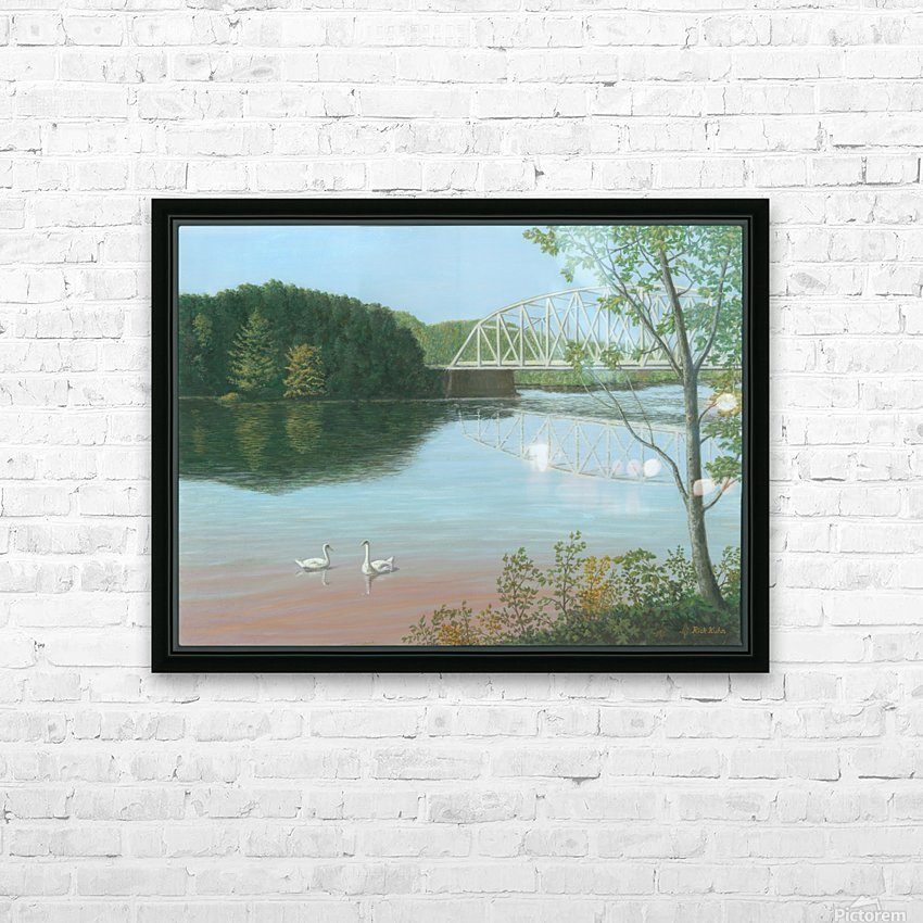 Silver Bridge - Newtown Scenes 18X24 HD Sublimation Metal print with Decorating Float Frame (BOX)