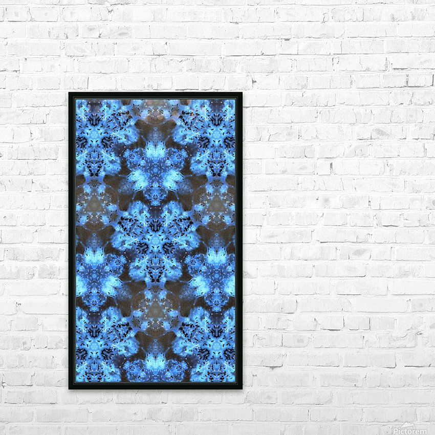 Kaleidoscope Burst of Blue  HD Sublimation Metal print with Decorating Float Frame (BOX)