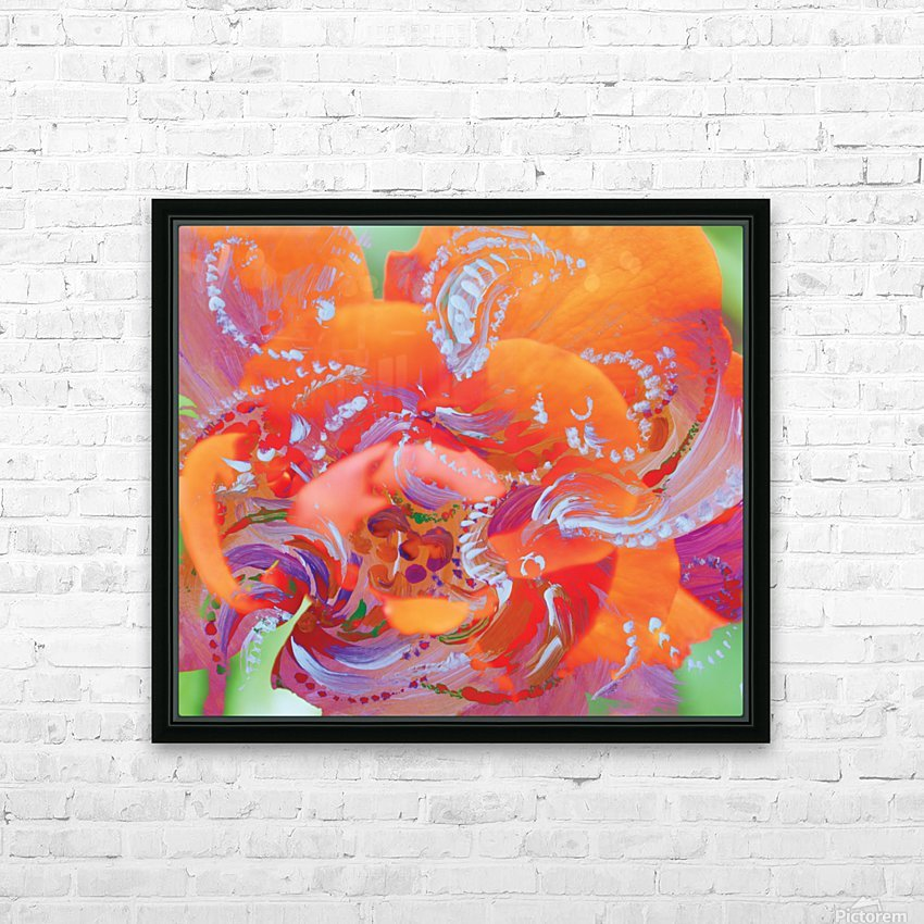 floral swirling HD Sublimation Metal print with Decorating Float Frame (BOX)