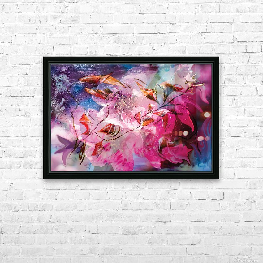 floral creation abstraction HD Sublimation Metal print with Decorating Float Frame (BOX)