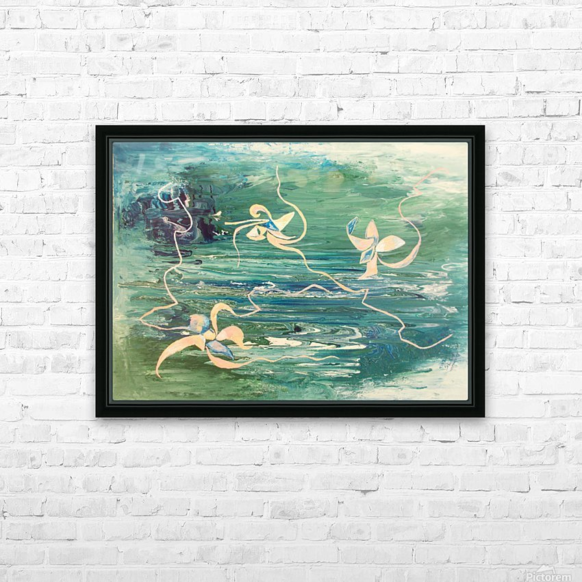 water surface abstraction HD Sublimation Metal print with Decorating Float Frame (BOX)