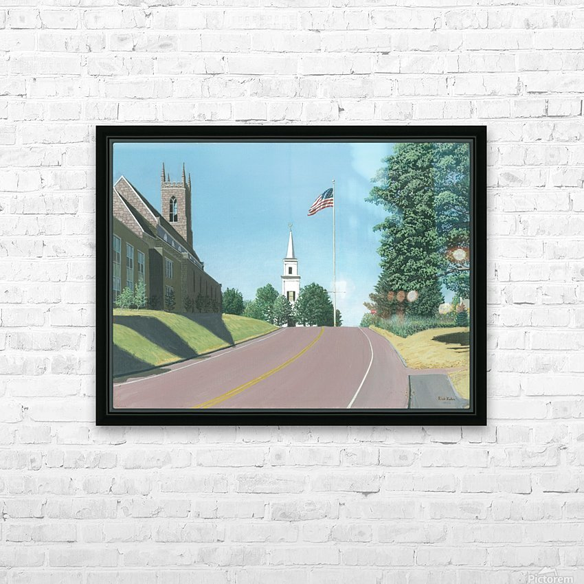 Church Hill Road - Newtown Scenes 12X16 HD Sublimation Metal print with Decorating Float Frame (BOX)