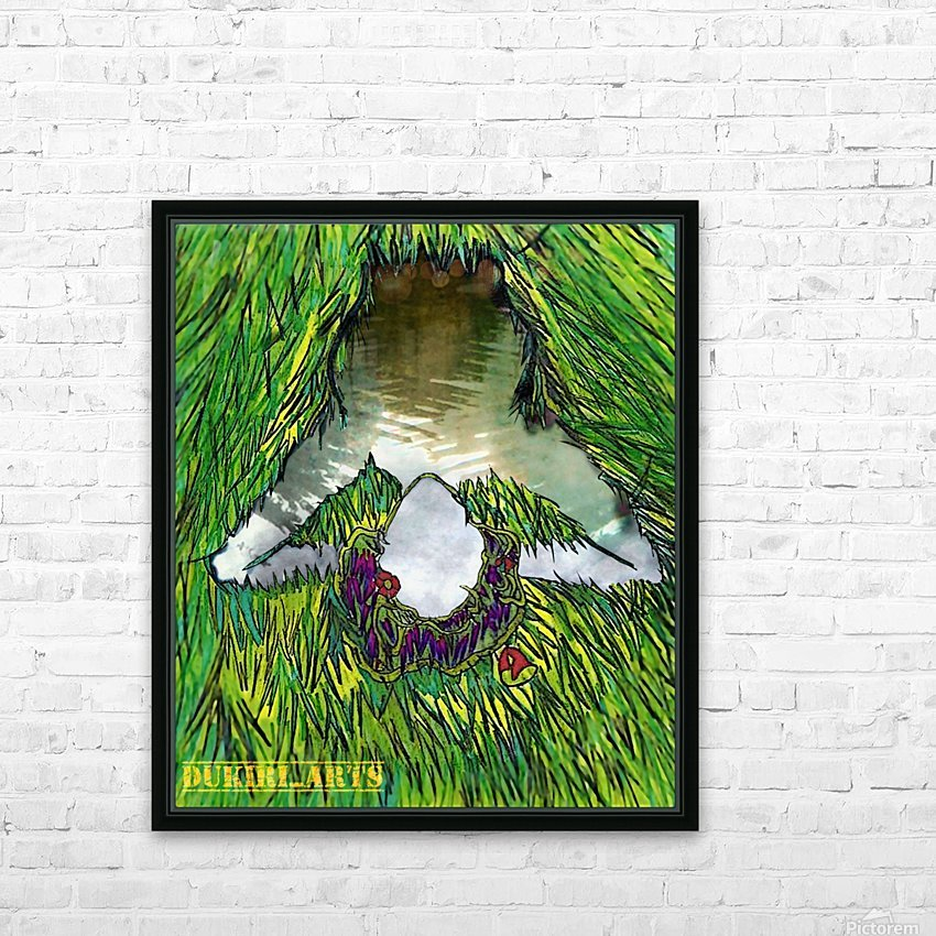 Woman of the Pond HD Sublimation Metal print with Decorating Float Frame (BOX)