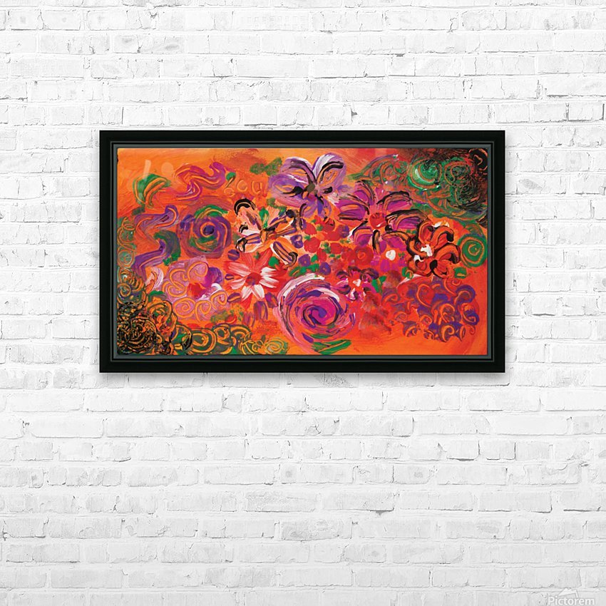 abstract colorful garden HD Sublimation Metal print with Decorating Float Frame (BOX)