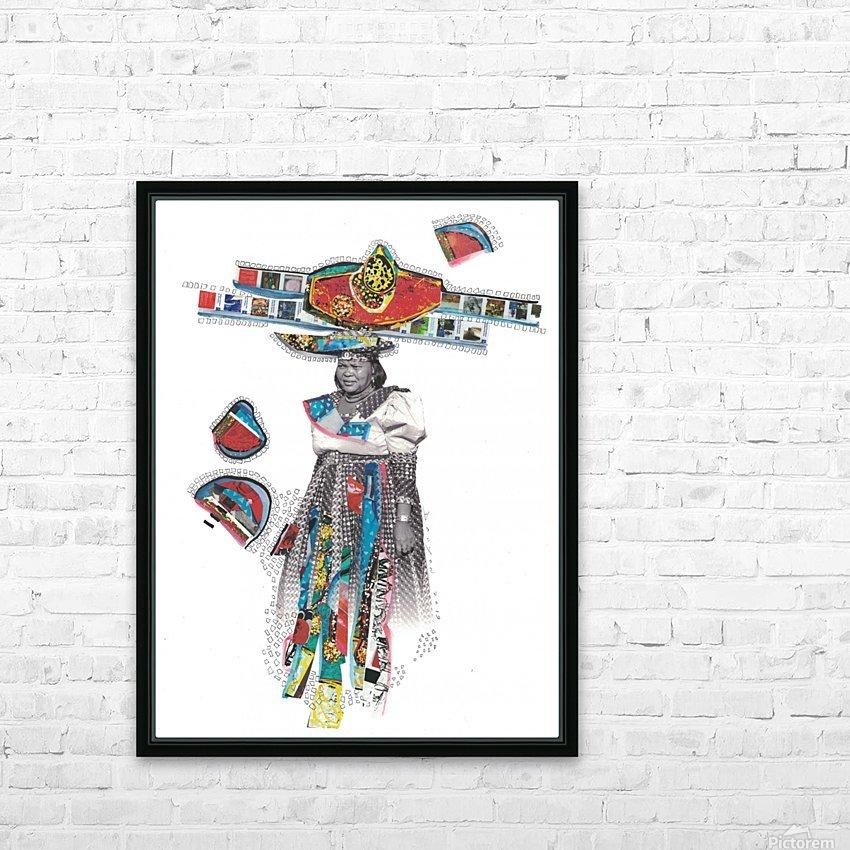 Herero Woman 7 HD sublimation métal imprimé avec décoration flotteur cadre (boîte)