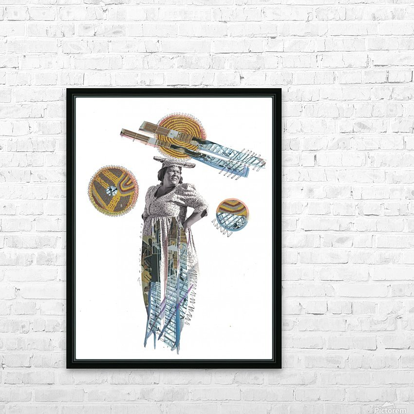 Herero Woman 5 HD Sublimation Metal print with Decorating Float Frame (BOX)