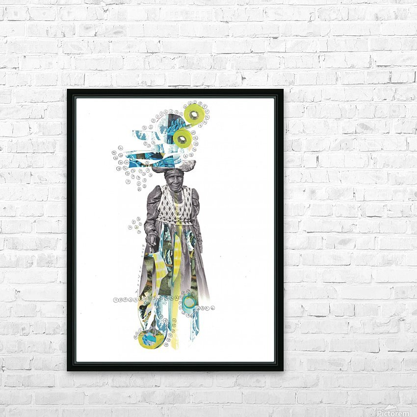 Herero woman 2 HD Sublimation Metal print with Decorating Float Frame (BOX)
