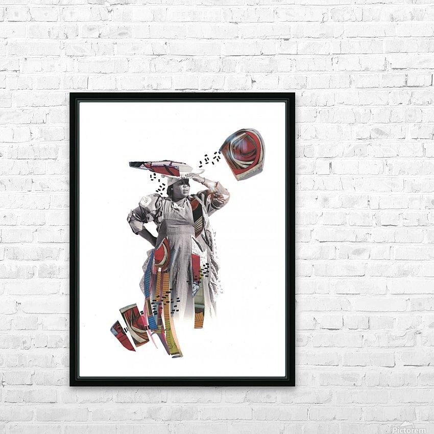 Herero woman 1 HD sublimation métal imprimé avec décoration flotteur cadre (boîte)