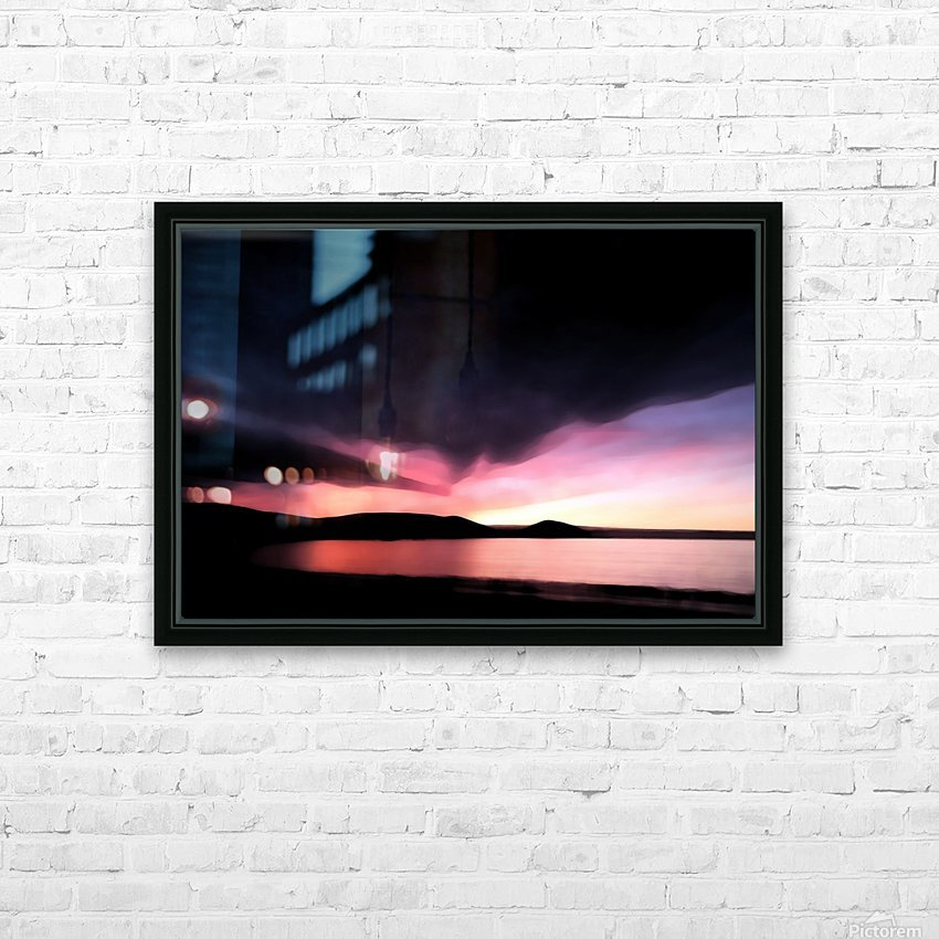 Last Light  HD Sublimation Metal print with Decorating Float Frame (BOX)
