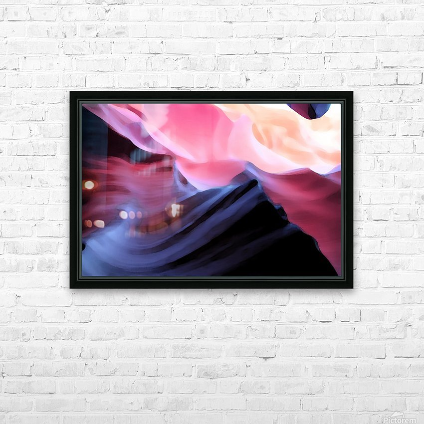 Blue Canyon HD Sublimation Metal print with Decorating Float Frame (BOX)