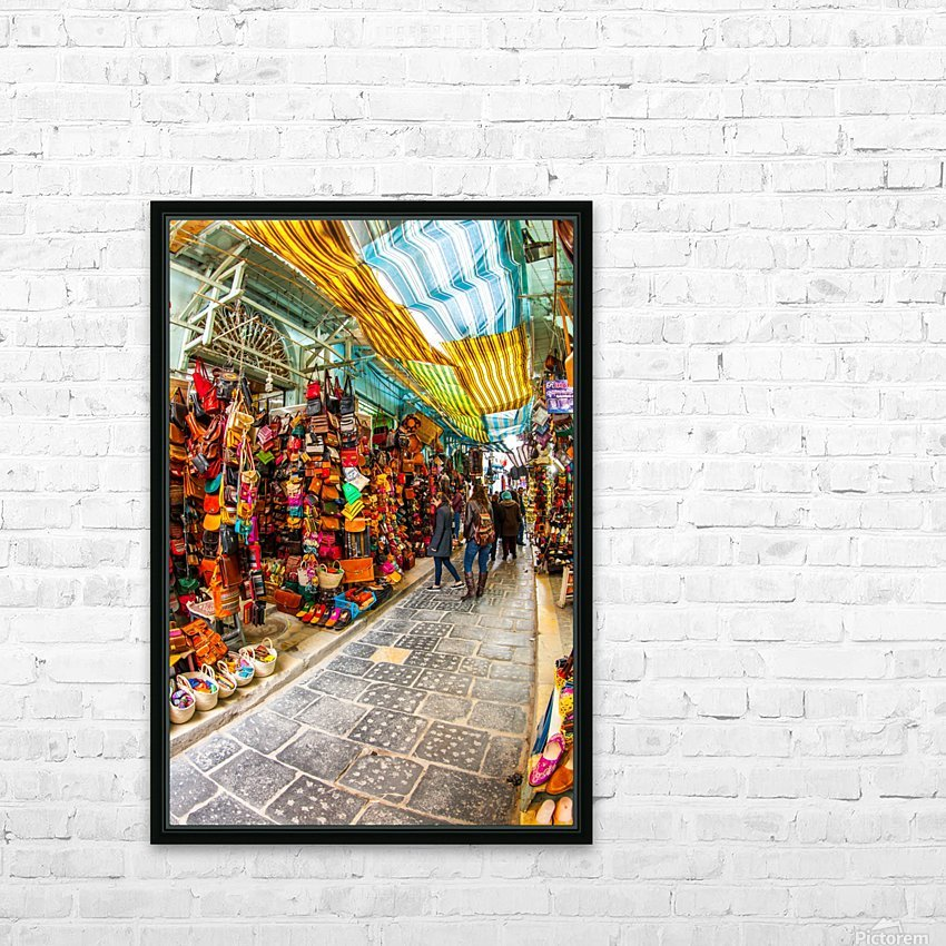 Souk Tunis Tunisie HD Sublimation Metal print with Decorating Float Frame (BOX)