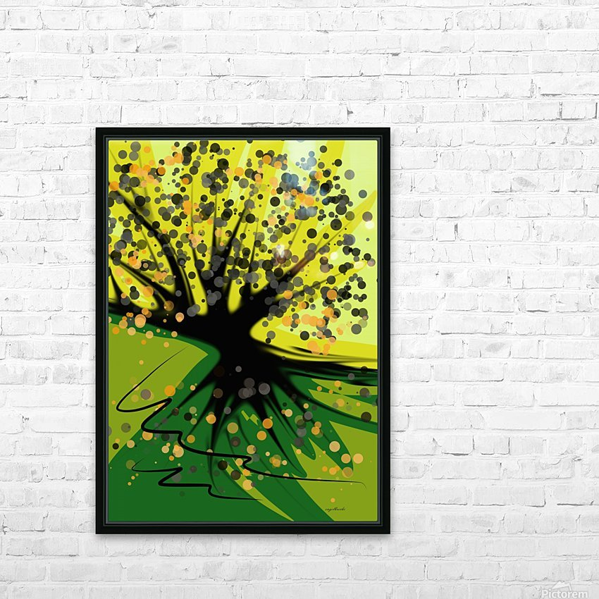 falling leaves HD Sublimation Metal print with Decorating Float Frame (BOX)
