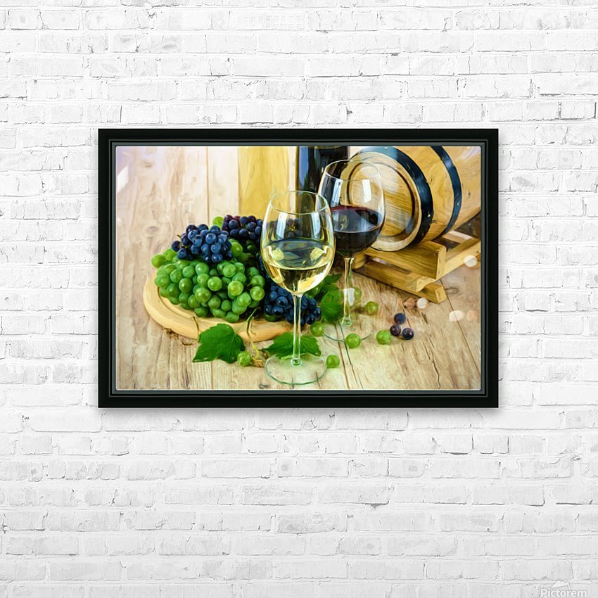 Wine Tasting HD Sublimation Metal print with Decorating Float Frame (BOX)