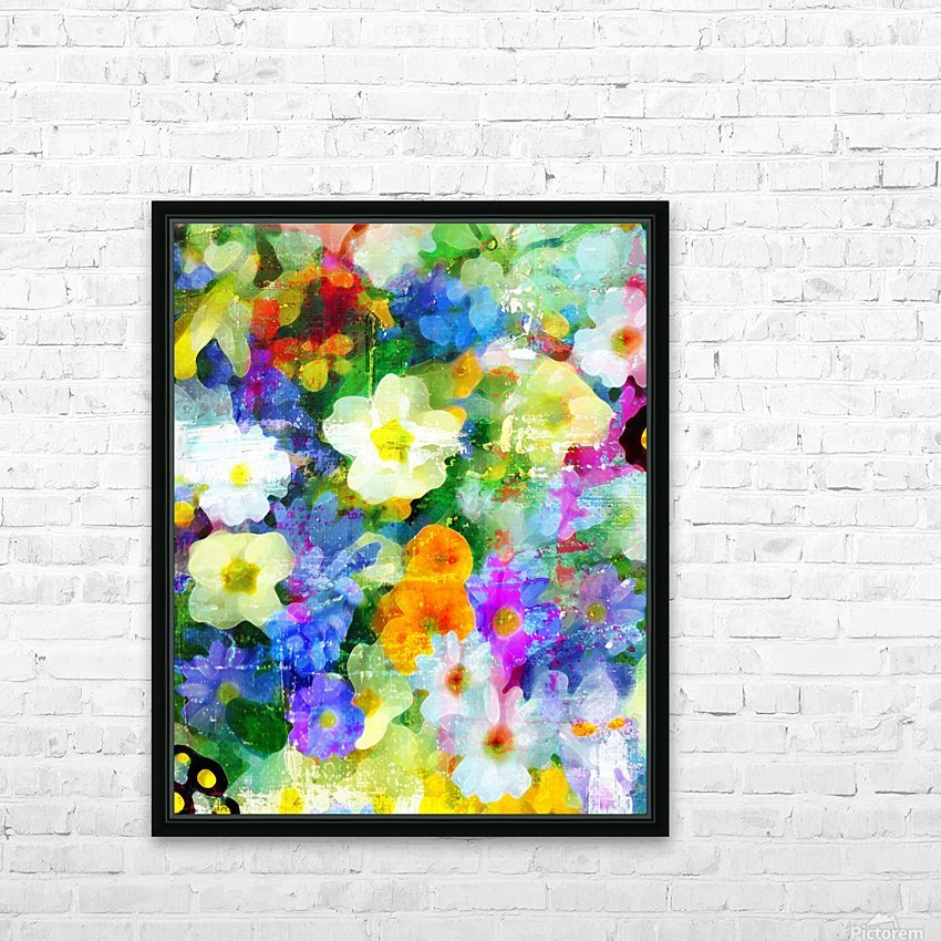 Garden Party HD Sublimation Metal print with Decorating Float Frame (BOX)